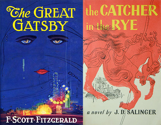 great gatsby and the catcher in