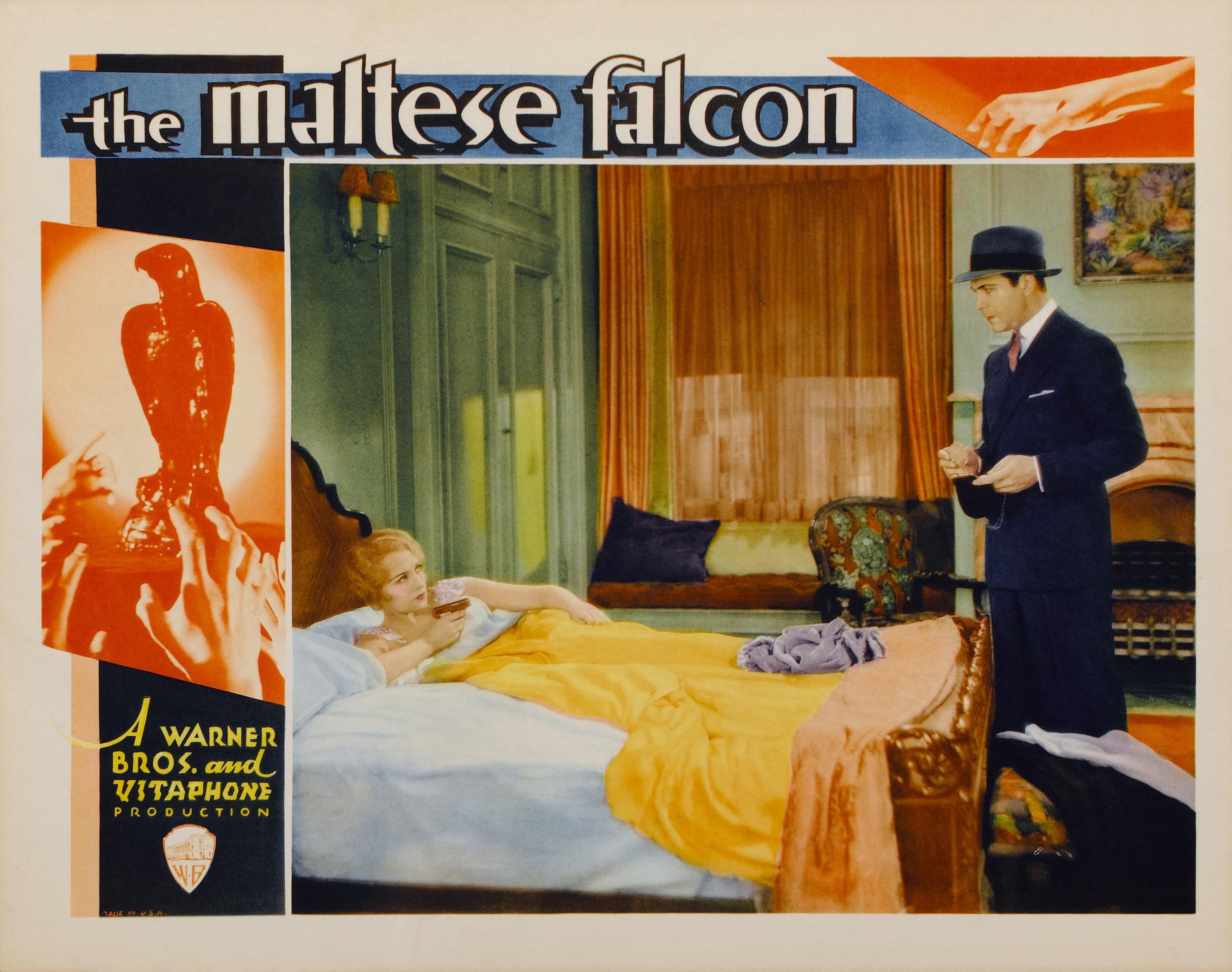 Maltese falcon movie book comparison