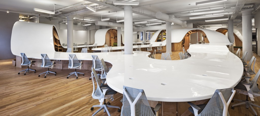 "The Barbarian Group's ""superdesk."" Image: Michael Moran"