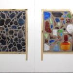 Coal, wood, glass vitrines